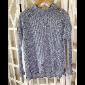 Free people Mock Neck medium ribbed sweater